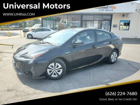 2016 Toyota Prius for sale at Universal Motors in Glendora CA