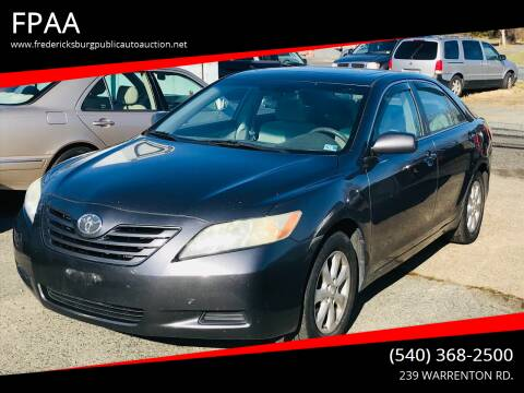 2007 Toyota Camry for sale at FPAA in Fredericksburg VA