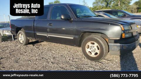 2004 Chevrolet Silverado 1500 for sale at Jeffreys Auto Resale, Inc in Clinton Township MI