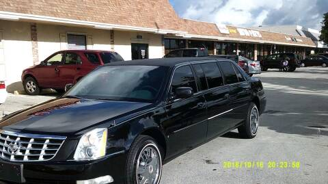 2008 Cadillac DTS Pro 6 door limosine for sale at LAND & SEA BROKERS INC in Deerfield FL