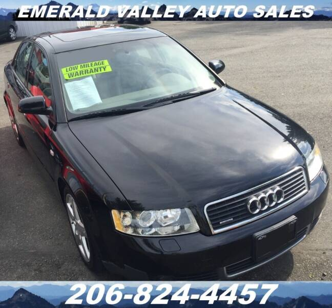 2002 Audi A4 for sale at Emerald Valley Auto Sales in Des Moines WA