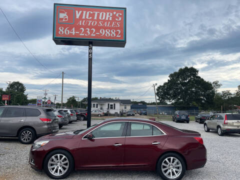 2015 Chevrolet Malibu for sale at Victor's Auto Sales in Greenville SC