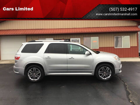 2012 GMC Acadia for sale at Cars Limited in Marshall MN