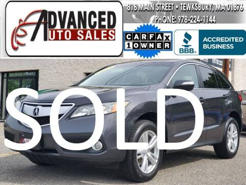 2013 Acura RDX for sale at Advanced Auto Sales in Dracut MA
