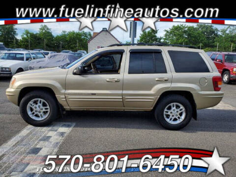 2000 Jeep Grand Cherokee for sale at FUELIN FINE AUTO SALES INC in Saylorsburg PA