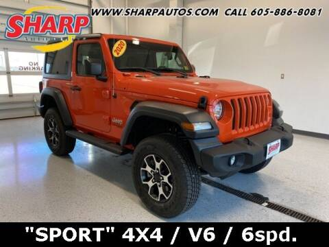 2020 Jeep Wrangler for sale at Sharp Automotive in Watertown SD