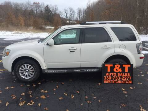 2010 Mercury Mariner for sale at T & T Auto Sales in Akron OH