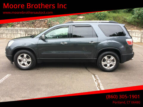 2011 GMC Acadia for sale at Moore Brothers Inc in Portland CT