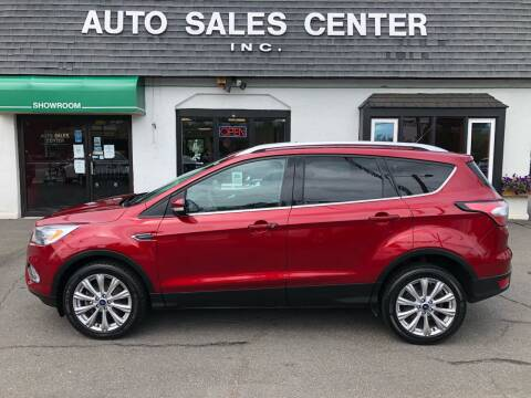 2017 Ford Escape for sale at Auto Sales Center Inc in Holyoke MA