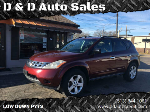 2005 Nissan Murano for sale at D & D Auto Sales in Hamilton OH