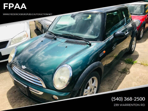 2006 MINI Cooper for sale at FPAA in Fredericksburg VA