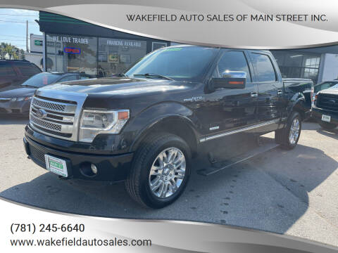 2013 Ford F-150 for sale at Wakefield Auto Sales of Main Street Inc. in Wakefield MA