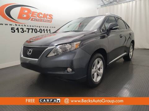 2011 Lexus RX 350 for sale at Becks Auto Group in Mason OH
