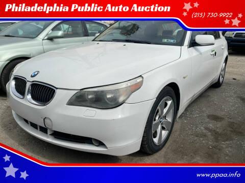 2007 BMW 5 Series for sale at Philadelphia Public Auto Auction in Philadelphia PA