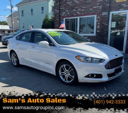 2015 Ford Fusion Hybrid for sale at Sam's Auto Sales in Cranston RI