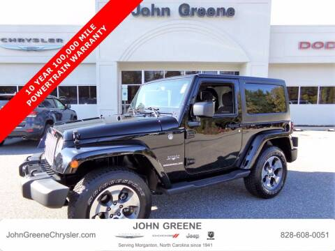 2017 Jeep Wrangler for sale at John Greene Chrysler Dodge Jeep Ram in Morganton NC