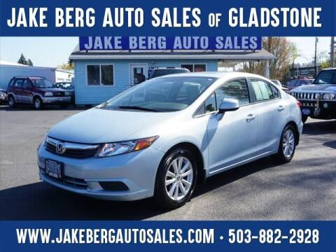 2012 Honda Civic for sale at Jake Berg Auto Sales in Gladstone OR