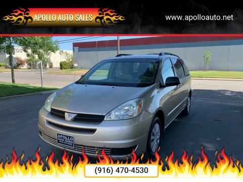2004 Toyota Sienna for sale at APOLLO AUTO SALES in Sacramento CA