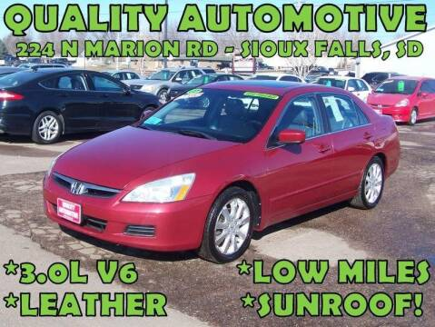 2007 Honda Accord for sale at Quality Automotive in Sioux Falls SD