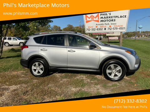 2013 Toyota RAV4 for sale at Phil's Marketplace Motors in Arnolds Park IA