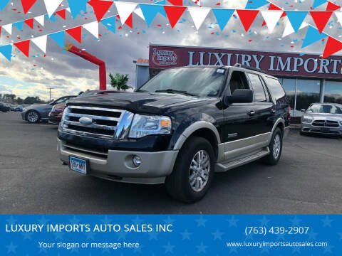 2008 Ford Expedition for sale at LUXURY IMPORTS AUTO SALES INC in North Branch MN