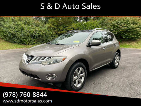 2009 Nissan Murano for sale at S & D Auto Sales in Maynard MA