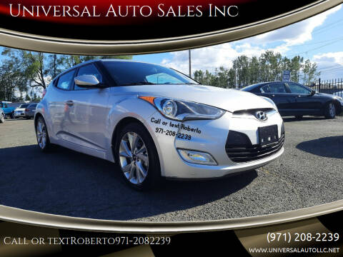 2017 Hyundai Veloster for sale at Universal Auto Sales Inc in Salem OR