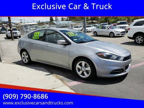 2015 Dodge Dart for sale at Exclusive Car & Truck in Yucaipa CA
