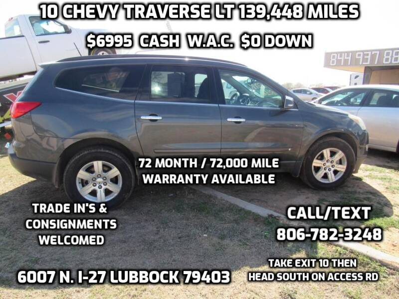 2010 Chevrolet Traverse for sale at West Texas Consignment in Lubbock TX