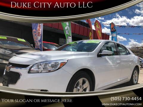 2016 Chevrolet Malibu Limited for sale at Duke City Auto LLC in Gallup NM