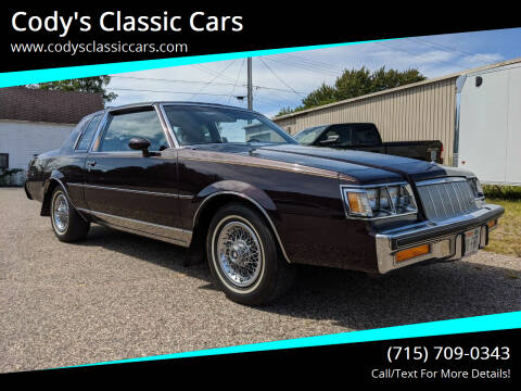 1985 Buick Regal for sale at Cody's Classic Cars in Stanley WI