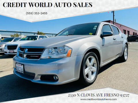 2013 Dodge Avenger for sale at Credit World Auto Sales in Fresno CA