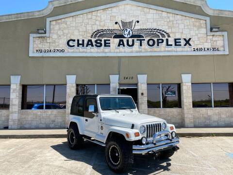 1999 Jeep Wrangler for sale at CHASE AUTOPLEX in Lancaster TX