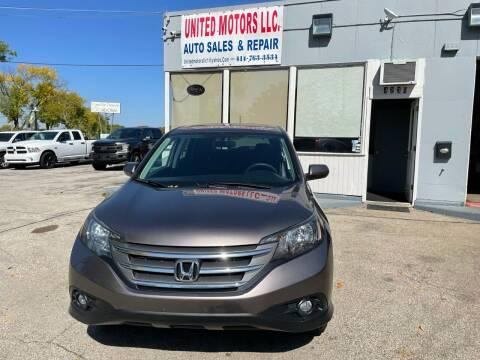 2012 Honda CR-V for sale at United Motors LLC in Saint Francis WI