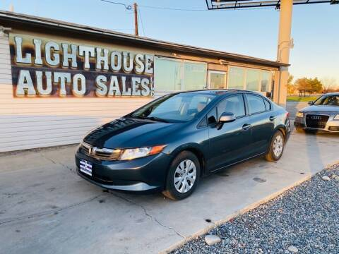 2012 Honda Civic for sale at Lighthouse Auto Sales LLC in Grand Junction CO