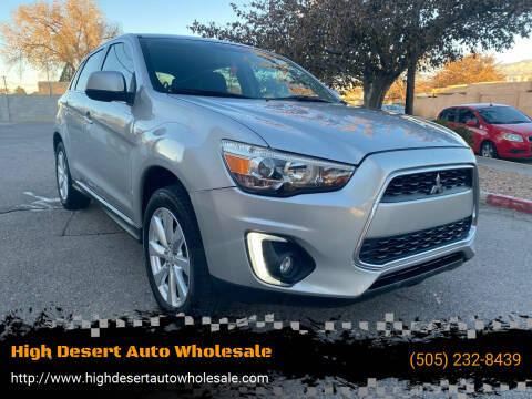 2015 Mitsubishi Outlander Sport for sale at High Desert Auto Wholesale in Albuquerque NM