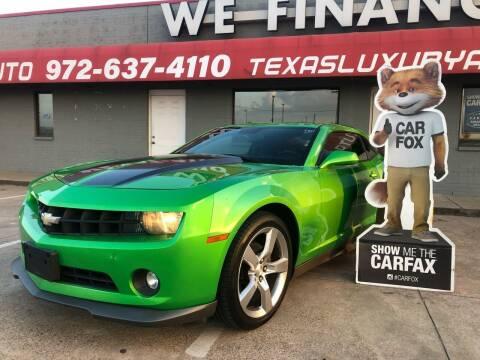 2010 Chevrolet Camaro for sale at Texas Luxury Auto in Cedar Hill TX