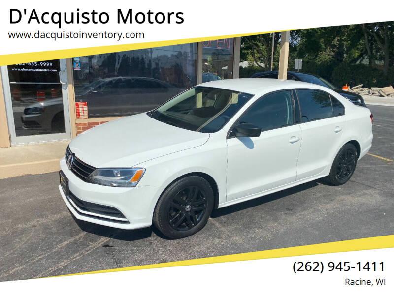 2015 Volkswagen Jetta for sale at D'Acquisto Motors in Racine WI