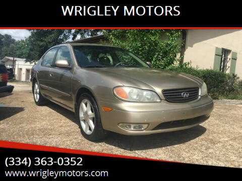 2002 Infiniti I35 for sale at WRIGLEY MOTORS in Opelika AL