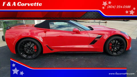 2017 Chevrolet Corvette for sale at F & A Corvette in Colonial Beach VA