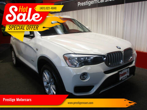 2017 BMW X3 for sale at Prestige Motorcars in Warwick RI