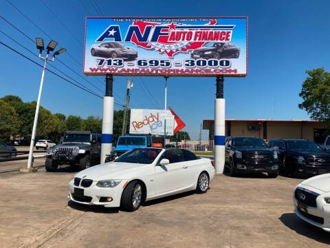 2012 BMW 3 Series for sale at ANF AUTO FINANCE in Houston TX