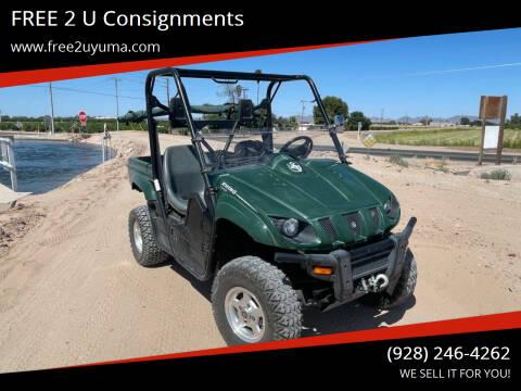 2005 Yamaha Rhino for sale at FREE 2 U Consignments in Yuma AZ