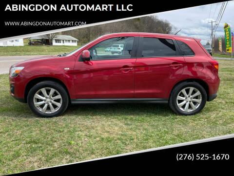2015 Mitsubishi Outlander Sport for sale at ABINGDON AUTOMART LLC in Abingdon VA