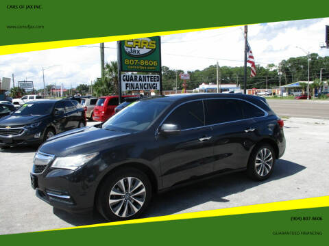 2016 Acura MDX for sale at CARS OF JAX INC. in Jacksonville FL