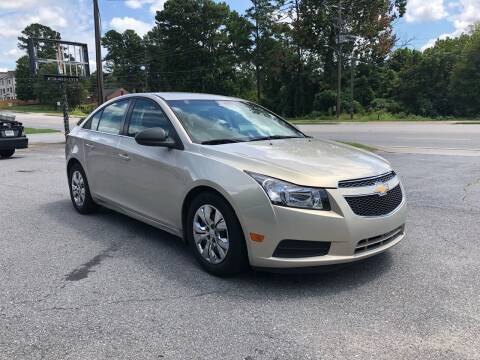 2012 Chevrolet Cruze for sale at ATLANTA AUTO WAY in Duluth GA