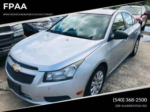 2011 Chevrolet Cruze for sale at FPAA in Fredericksburg VA