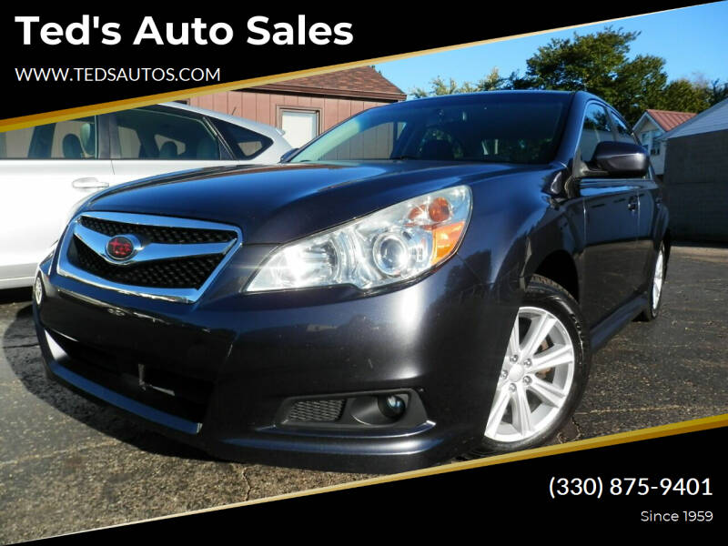 2012 Subaru Legacy for sale at Ted's Auto Sales in Louisville OH