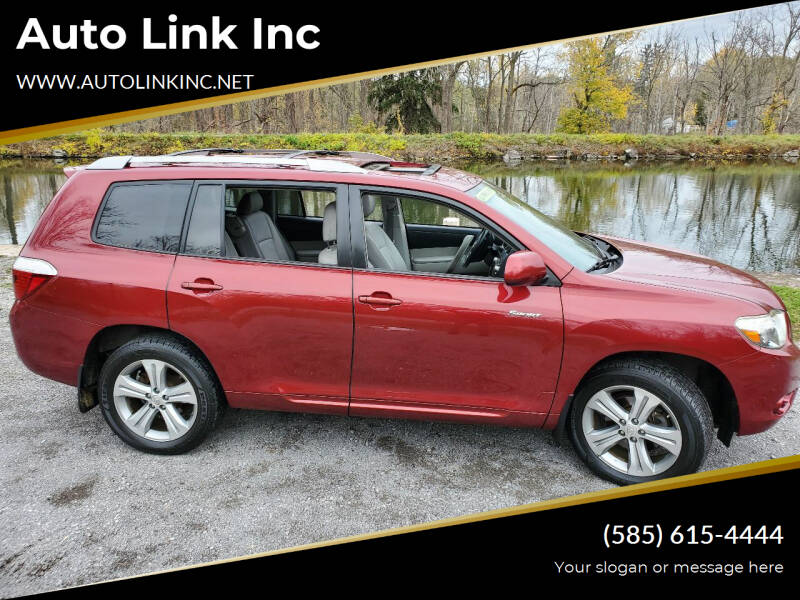 2008 Toyota Highlander for sale at Auto Link Inc in Spencerport NY