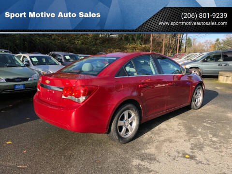 2012 Chevrolet Cruze for sale at Sport Motive Auto Sales in Seattle WA